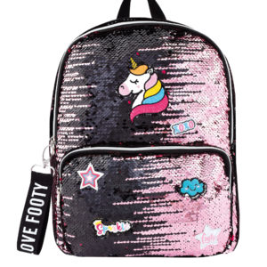 Mochila Loving Patches rosa-negro