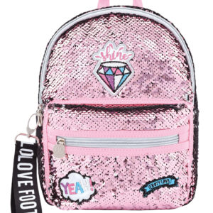 Mochila Loving Diamante rosa