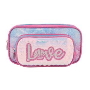 Estuche Love rosa | Doble