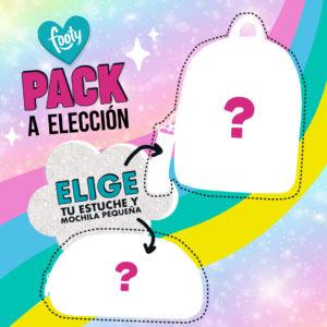 Pack mochila de paseo + neceser a elegir